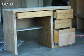 Before After Rustic Refinished Desk Design Sponge