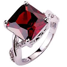 red stones rings images Statement silver rings with stones amazon co uk jpg