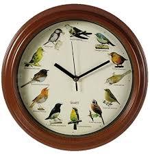 Grande Horloge Murale Design Pas Cher 12 Avec Nodshop Horloge Oiseaux Horloge Murale Avec 12 Espèces D Oiseaux