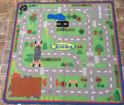 Childrens Play Rug Hasbro Tonka 40 X 40 Children U0027s Game Play Mat Construction Road