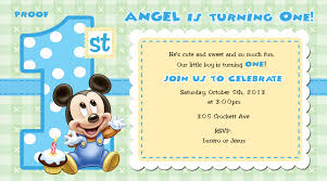Mickey Mouse Invitation Card Mickey Mouse 1st Birthday Invitations For Girls And Boys Party Xyz
