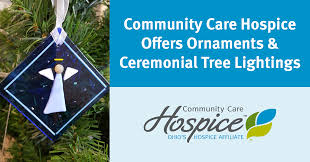 community care hospice offers ornaments and celebrates the season