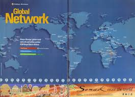 Turkish Airlines Route Map by Flight Africa Blog Airline Memorabilia Kenya Airways 1999