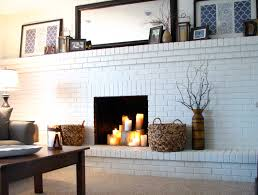 painting brick fireplace beige tips in painting brick fireplace