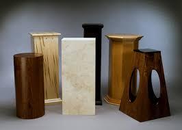 Wood Pedestal Stand The Base Shop Custom Sculpture Bases Pedestals Woodworking