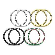 piercing rings images Bodyj4you piercing rings earrings nose hoops tragus lip stainless jpg