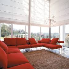 electric screen living room contemporary with wide roller blinds