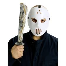 Jason Halloween Mask by Weapons Jason Friday 13th Hockey Mask And Machete Set