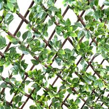 indooroutdoor expanding wall mounted trellis with faux leaves