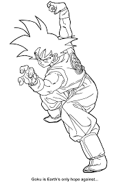 dragon ball z coloring pages getcoloringpages com