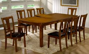 chair 9pc square dining table 54x54x30 with 8 microfiber cushioned