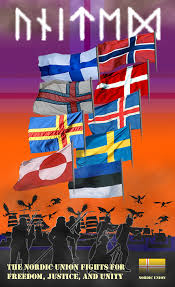 Union Of The Flag Nordic Union Poster By Frans97 On Deviantart