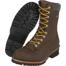 boots size 12 gravel gear 10in waterproof steel toe logger work boots brown