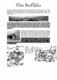 native americans buffalo information sen worksheet year 8 9