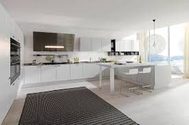 exquisite white kitchen design with l shaped kitchen cabinets