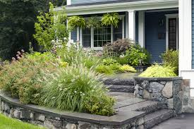 decorating attractive front house landscape design ideas with