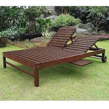 Teak Chaise Lounge Chairs Living Room The Incredible Teak Double Chaise Lounge Regarding
