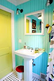 Colorful Bathroom Vanity Small Bathroom Color Ideas Intended For Bright Colored Bathrooms