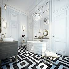 Art Deco Flooring Ideas by Black And White Bathroom Floor Ideas Gallery Tile Decorating Arafen