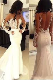 open back wedding dresses open back mermaid sleeve prom dress mermaid wedding