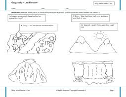landforms worksheets 3rd grade worksheets