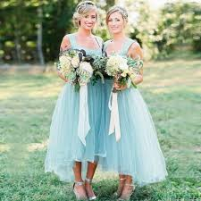 cheap light blue bridesmaid dresses buy a line square high low light sky blue tulle bridesmaid dress