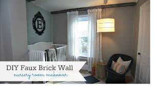 diy faux brick wall knock it off diy project east coast