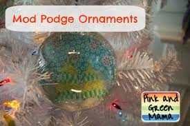 pink and green festive kid friendly mod podge