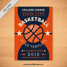basketball flyer template free vectors ui download