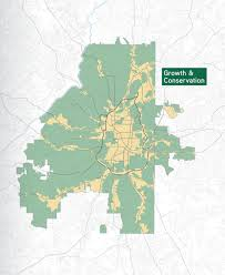 Atlanta Development Map by Atlanta City Design Calls For Transit Expansion Conservation Of