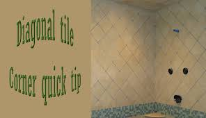 quick tip to help with diagonal corners on walls tile youtube