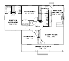 cottage style house plan 3 beds 2 baths 1260 sq ft plan 44 175