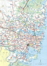 australia map of cities sydney map and sydney satellite image