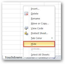 hide and unhide worksheets and workbooks in excel 2007 u0026 2010