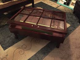 Rustic Coffee Tables With Storage - rustic coffee table military display table shadow box coffee