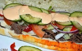 cuisine sud ouest dans la cuisine de blanc manger sous marin au steak et fromage