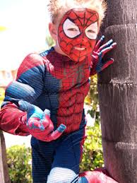 to create a spiderman costume look