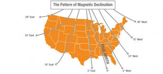 magnetic declination map compass got you lost adjusting for magnetic declination
