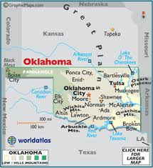 map ok panhandle oklahoma large color map