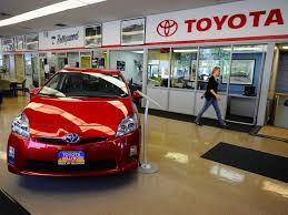 toyota car showroom toyota to recall 6 5 million cars to fix power window switch