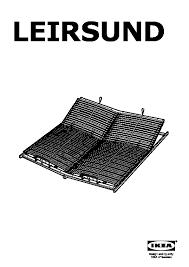 leirsund slatted bed base adjustable ikea united states ikeapedia