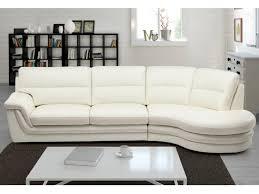 canapé d angle droit ou gauche canapé d angle en cuir italien coloris ivoire isiro
