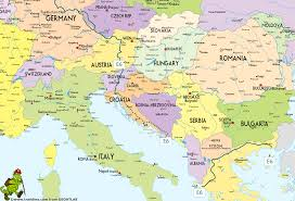 The Map Of Europe by Sarajevo Map Hiking Map Map E6 South Gif 1250 850 Wwi