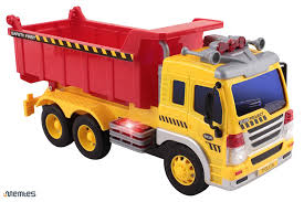amazon com memtes friction powered dump truck toy with lights and