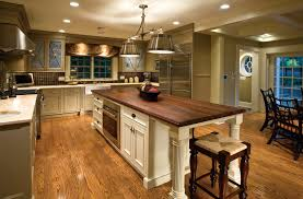 Dark Kitchen Island L Shape White Wooden Cabinet Combined With White Wooden Kitchen