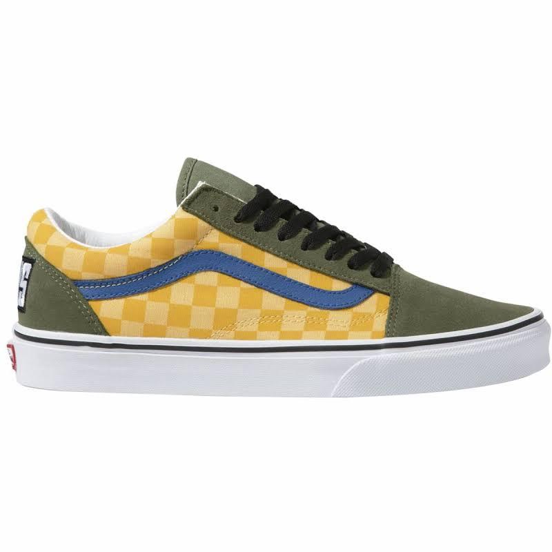 Vans Old Skool OTW Rally (Checker/Multi/Deep Lichen Green) Skate Shoes-8