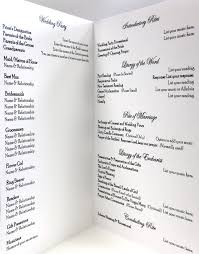 Sample Of Wedding Programs Ceremony Catholic Wedding Program Template Peerpex