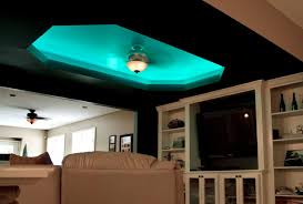 Ceiling Colors For Living Room Led Color Changing Ceiling Cove Lighting Eclectic Living Room In