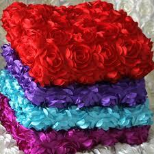 rosette chair covers wholesale 3d flower fabrics wedding carpet backdrop cloth