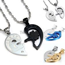 key love necklace images Fashion valentine quot love you quot lock and key couples necklace set jpg